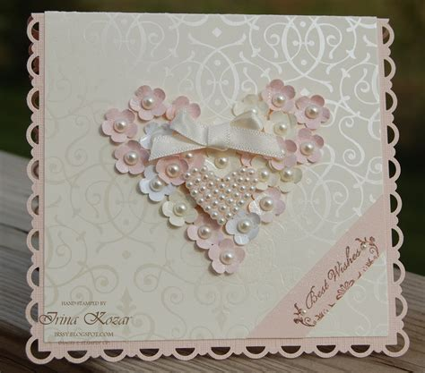 how to make wedding card stin with irina flower wedding card