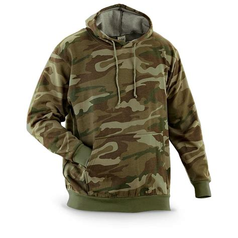 Sweater Camo 7 camouflage hoodie pullover fleece sweatshirt camo green brown l xl ebay