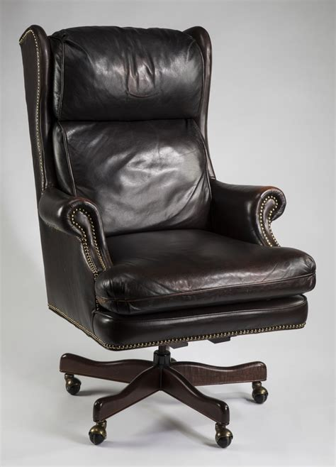 Executive Leather Wingback Swivel Office Chair Wingback Swivel Chair