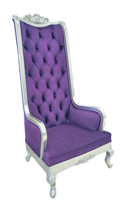 High Backed Throne Chair by High Back Chair King Throne Purple