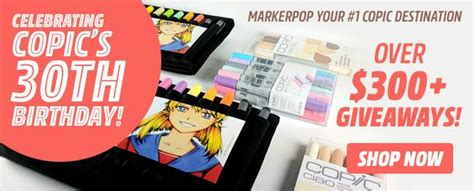 Copic Marker Giveaway 2017 - copic marker 30th birthday celebration valbydesign