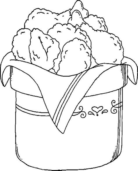 coloring pages fried chicken bucket full of drumstick fried chicken coloring pages
