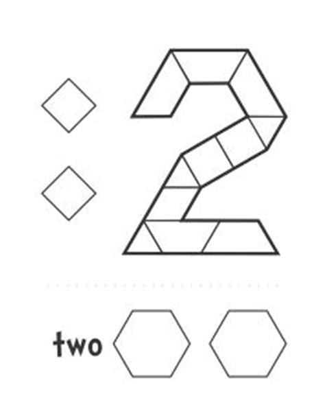 pattern block templates numbers 1000 images about math 1 10 on pinterest number