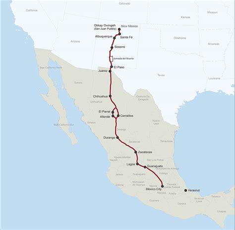 camino trail map maps el camino real de tierra adentro national historic