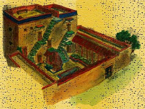 ancient middle eastern homes with flat roofs wealthy israelite house bible history