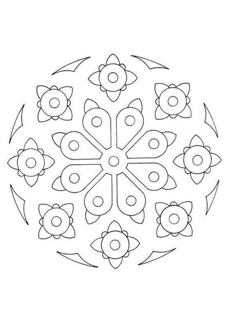 mandala coloring pages beginner mandalas for beginners mandala 35