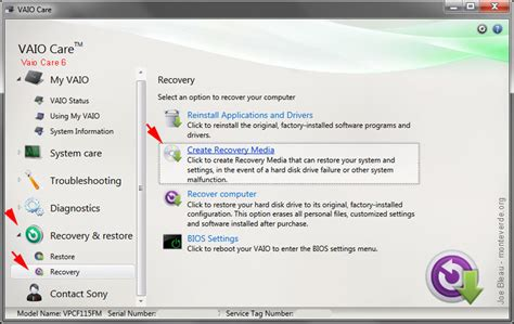 Disk Vaio sony vaio recovery disk go search for tips