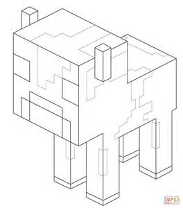 minecraft cow coloring page image