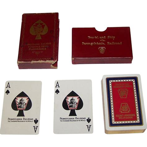 Broadway Com Gift Card - pennsylvania railroad broadway limited pinochle playing cards from
