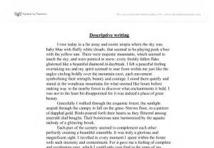 A Descriptive Essay by Descriptive Writing Woodland Gcse Marked By Teachers