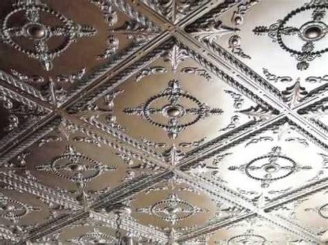 Copper Tiles For Kitchen Backsplash glue up nail up ceiling tiles diy youtube