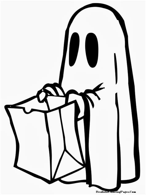 happy ghost coloring pages happy halloween printable coloring pages realistic