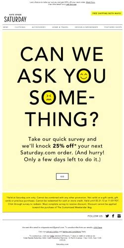 sur la table email sign up survey email archives email newsletter exles email