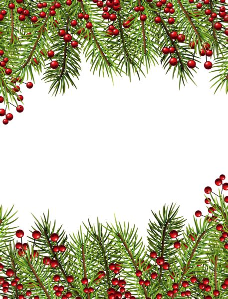 Card Frames Templates Pine Boughs by Transparent Border Png Frame Its