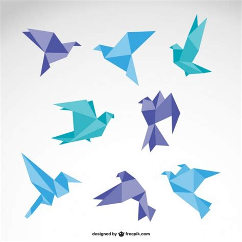 Bird Origami - collection of awesome origami birds icons free