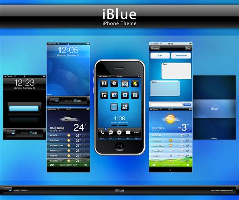 drawing themes for mobile phones iblue theme for iphone by benjamin dandic on deviantart