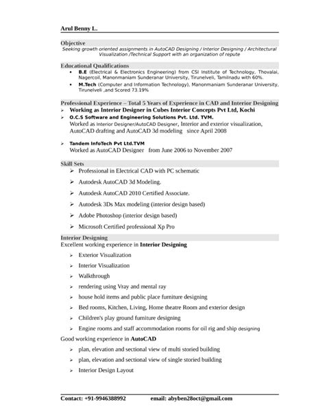 Professional Resume Design by Professional Interior Designer Resume Template