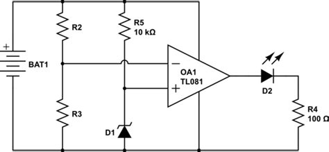 diode comparator circuit power supply simplest quot battery low quot indicator for a 3 7 volt lithium ion battery electrical