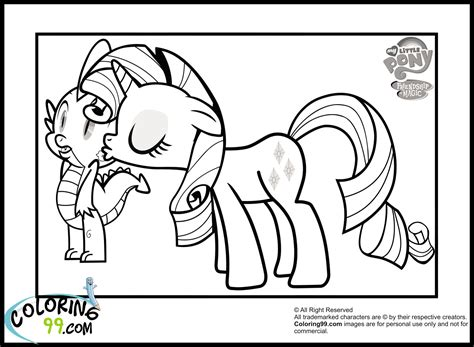 1000 Images About Birthday My Little Pony On Pinterest My Pony Coloring Pages Spike