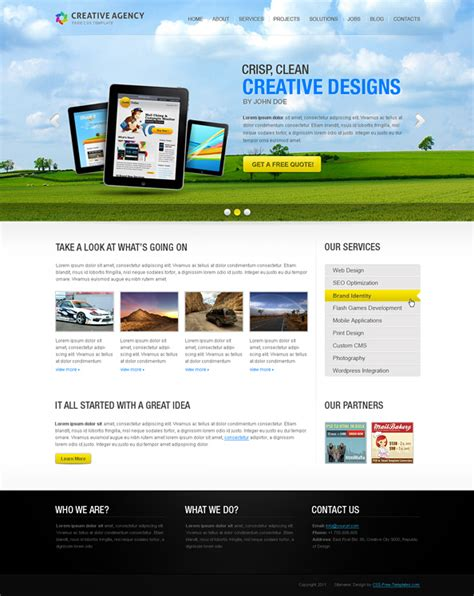 free css website templates for advertising agency free website css template for creative agency free css
