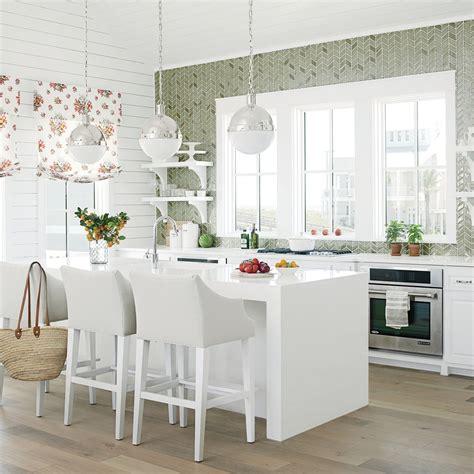 green and white kitchen ideas designer kitchen ideas coastal living