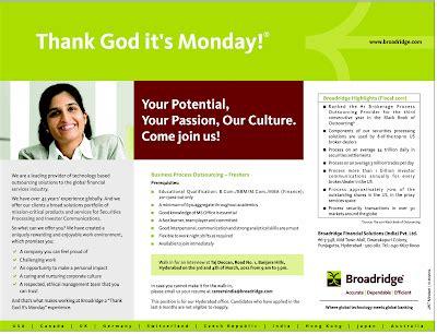 Mba Finance Walkins In Bangalore by Bpo Freshers Career