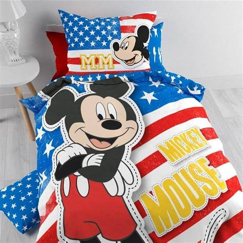 Sprei Mickey Mouse Uku 120x200x30 Cm mickey dekbedovertrek kopen internetwinkel