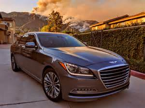 2016 hyundai genesis sedan california is burning the