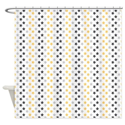 blue and gold shower curtain blue and gold stars shower curtain by cuteprints