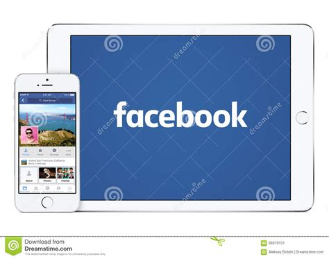 android app layout landscape portrait facebook app on white apple ipad air 2 and iphone 5s