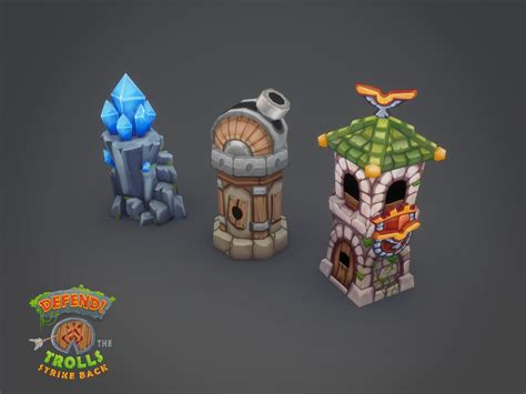 boat tower defense luis armstrong 3d work defend art assets