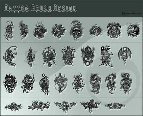 photoshop tattoo brushes huge collection of high quality free tattoo brushes for