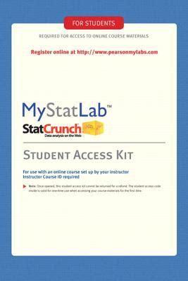 Pdf Mystatlab Standalone Access Card by Mystatlab Standalone Access Card 1st Edition Rent