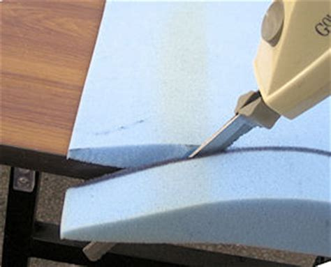 how to cut upholstery foam national foam products inc fort lauderdale fl foam