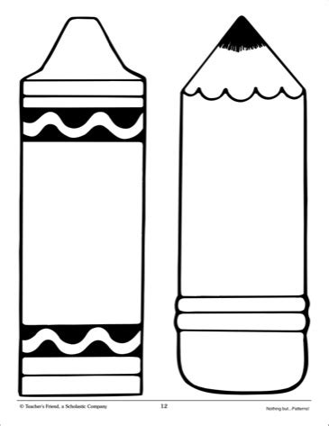 best photos of crayon template printable free printable