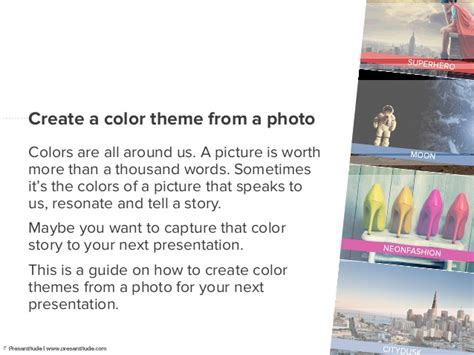 How To Create A Presentation Color Theme From A Photo | how to create a presentation color theme from a photo