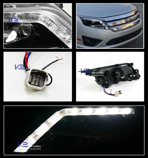 2012 ford fusion led tail lights 2010 2012 ford fusion black led drl projector headlights