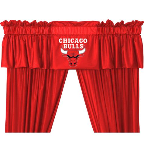 curtains chicago nba chicago bulls long curtain set 5pc basketball