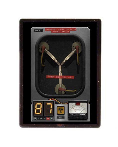 flux capacitor best buy back to the future flux capacitor magnet framed with stand 4x3 inch ebay
