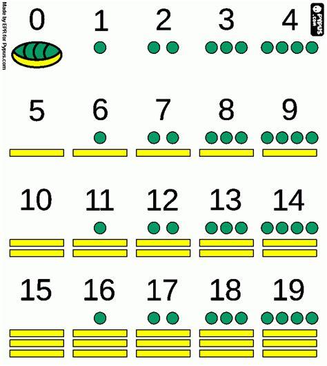 imagenes numeros mayas numeros mayas para colorear numeros mayas para imprimir
