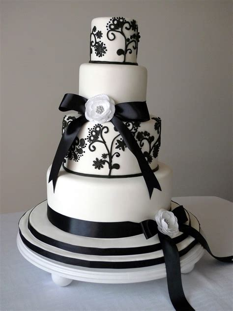 Black Wedding Cakes by Cakebee Black White Wedding Cakes