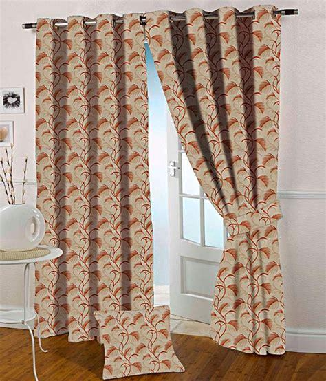 orange and beige curtains presto orange and beige floral polyester window curtain