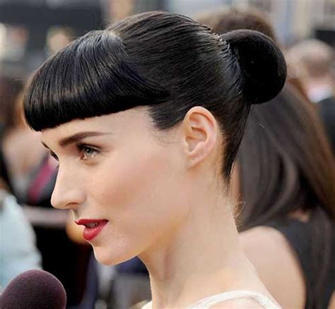 Bun Hairstyles With Bangs by 20 Bun Hairstyles With Bangs Hairstyles Haircuts 2016