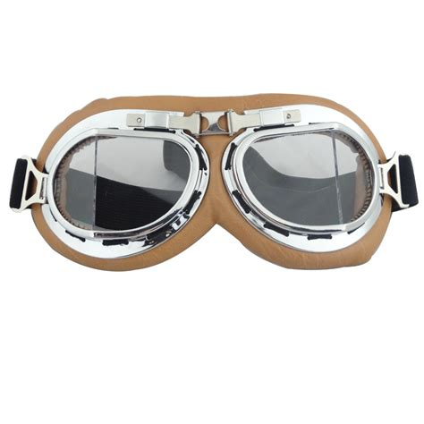 vintage motocross goggles vintage style aviator pilot cruiser motorcycle goggle