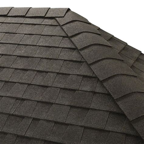 gaf timbertex charcoal hip and ridge shingles 20 linear