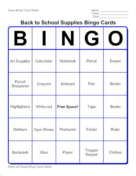 template to make a bingo card edubakery about bingo card maker