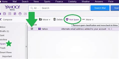 yahoo email verification spam how to mark and delete spam in yahoo mail