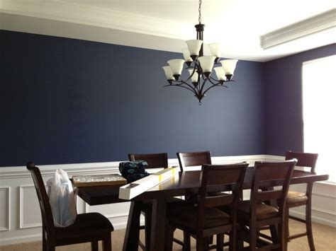 Sherwin Williams Dining Room Colors by Navy Blue Dining Room White Trim Wainscoating Dining