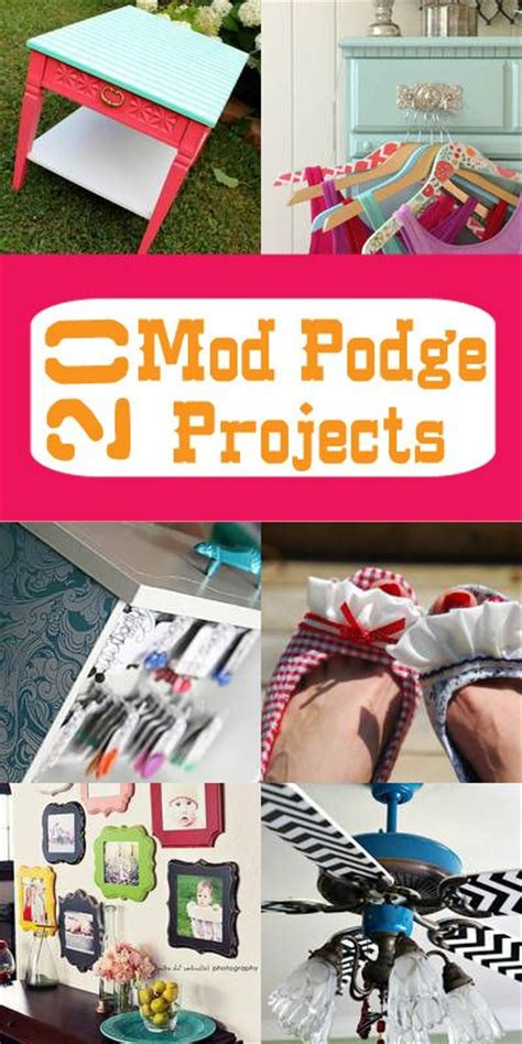 Is Decoupage And Mod Podge The Same - awesome modpodge decoupage diy project roundup from