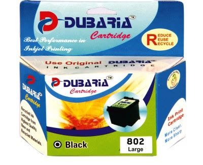 Hp 802 Xl Black Limited dubaria comaptible for hp 802 xl cartridge black ink available at flipkart for rs 770